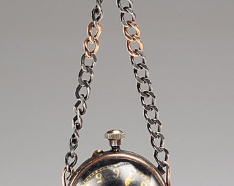 Most Unusual Gold and Gunmetal BALL WATCH 17j Swiss, Stem Wind - working condition - Octo Watch Co. founded in 1848