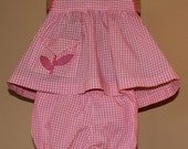 Vintage Pink Gingham Toddler Dress and Bloomers by Sparkle Togs, 1950's to 1960's Era