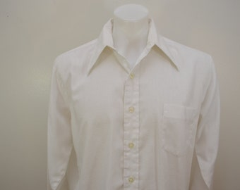 Vintage JCPenney TOWNCRAFT long sleeve shirt 1970's Penn Prest textured