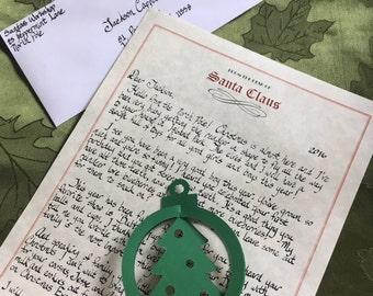 Handwritten letter from santa  Etsy