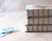 Hand bound, handmade pocket book/journal/sketchbook - Upcycled Maps - India, China, New Zealand -