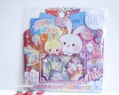 Kamio Japan Sticker Flakes - Cute Rabbit - 50 Pieces (46389)