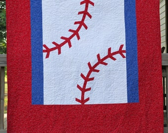Baseball Quilt Pattern- Twin sized**PDF Instant download***