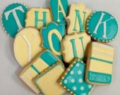 THANK YOU COOKIES, Sugar Cookie Gift Box, Set of 12