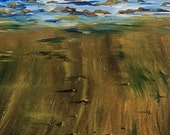 SALE GICLEE Fine Art Reproductions on 8.5x11 PAPER - Footprints in the Sand by Daina Scarola (beach dog, paw prints)