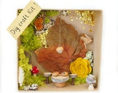 Fairy Garden Kit, DIY Fairy Dining Room Craf Kit Fairy House Furniture Kit Nature All Natural Eco Friendly Craft Birthday Gift