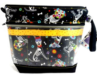 NEW! Go Crafty Travel Case - Needle Organizer - Sugar Skull Puppy