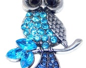 50% OFF Needle minder- Cross stitch - Tapestry - Diamante Blue Owl -  Embroidery
