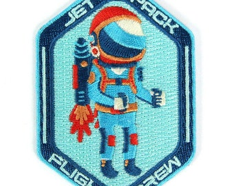 Jet Pack Flight Crew Iron On Patch
