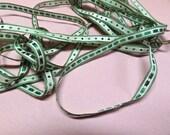 "Antique silk fancy taffeta ribbon, Victorian silk ribbon, 1/4"" x 2.5 yards, perfect for antique doll clothing"
