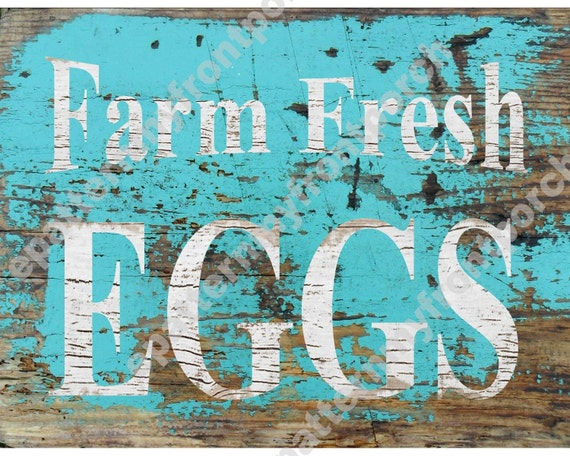 Printable Download Farm Fresh Eggs Turquoise Cottage Beach