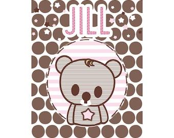 Girls Personalized Name Print Jill