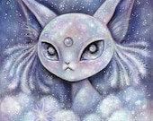 Reserved for Echo - Espeon original painting
