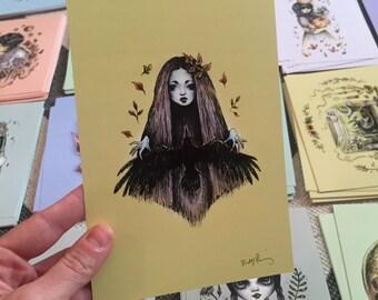 Raven Witch Drawlloween print
