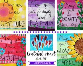 Card Set : Grateful Heart #5-CS