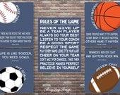 Sports Decor, Motivating Sports Quote, Motivating Sports Set, INSTANT DOWNLOAD, Boys Sports Decor,Sports Playroom Decor,Sports Birthday
