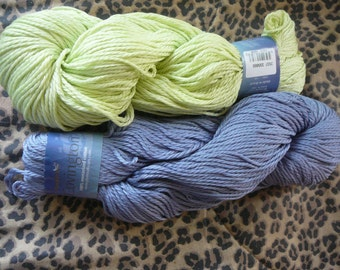 Plymouth Covington - 100% Mercerized Cotton Yarn - Mixed Color Lot of 2