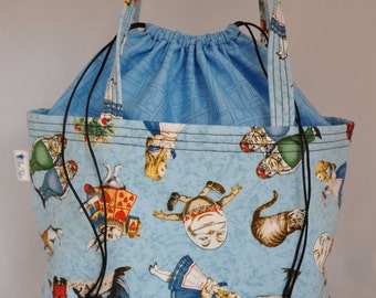 Project Bag Pleated Bottom Alice in Wonderland
