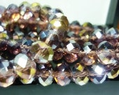 8mm AB Plum Crystal Beads 8 Rondelle crystal Beads