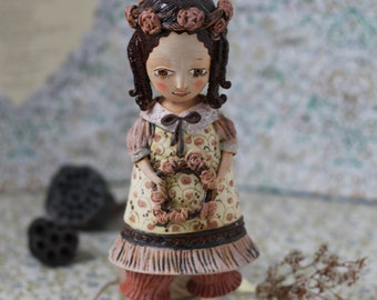 """Vintage girls with a circlet of flowers. From """"Le Carousel"""" Project by Elya Yalonetski"""