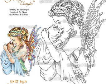 Fairy Tangles Printable Coloring Pages Norma J Burnell Fairies To Color Book Sheets For