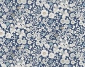 Liberty Tana Lawn Fabric June's Meadow G Half Yard Multi Floral Navy White