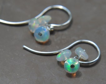 Welo Ethiopian Opal Earrings on Sterling Silver