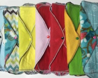 Set of 5 MamaBear LadyWear Quick-Dry cloth menstrual pads - Heavy/Overnight/Post Partum