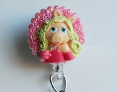 It's All About Miss Piggy ID Badge Reel - RN ID Badge Holder - Zipperedheart