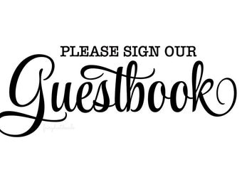 Wedding Decal - guestbook decal - bride and groom wedding reception decal - make your own sign - welcome guests - wedding decals DIY - vinyl