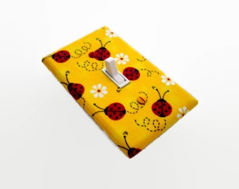 Ladybugs Light Switch Cover - Red Ladybugs Switchplate Cover - Children Decor Switchplate - Ladybug Nursery Decor - Girls Bedroom Decor