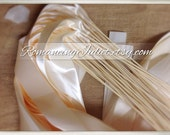 Instead of Rice Jumbo Ribbon Streamer Sticks..PACK OF 50...You choose the Ribbon Color.. Shown in ivory