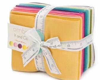 WINTER SALE - Fat Quarter Bundle (20) - Ombre Solids - V and Co. - Moda Fabrics