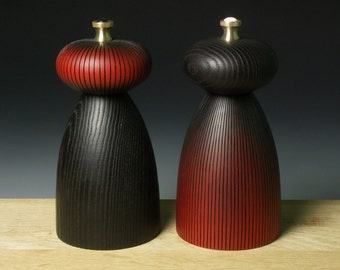 Red and Balck Salt and Pepper Mills