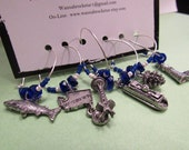 Coupon Code - PNW Seattle - ToP SeLLer - STATE Set -  Wine Charm Set
