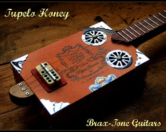 Tupelo Honey Deluxe cigar box slide guitar