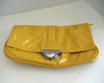 Shiny Mustard Ladies Clutch Purse