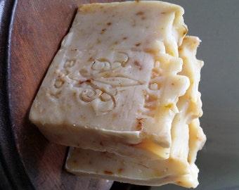 SANDALWOOD Shea Butter Soap, Organic 6oz Bar