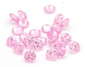 FOUR 5mm Faceted Round Cubic Zirconia Gemstones Pink - FOUR