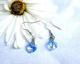 Crystal Blue Earrings