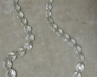 A Faceted Crystal Bead Necklace