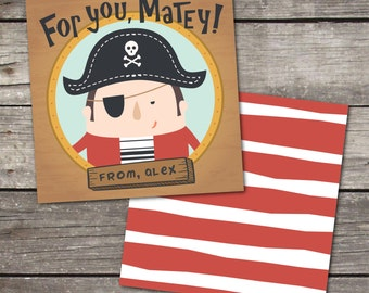 Set of 25 Personalized Pirate Enclosure Cards Contact Cards Calling Cards or Gift Tags