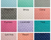 Minky Fitted Crib Sheet or Changing Pad Cover - Your Color Choice - Minkee Dimple Cuddle Fabric