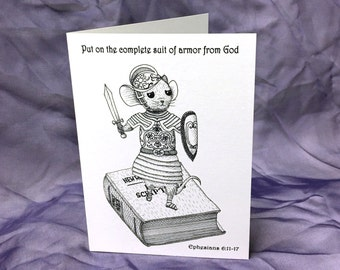 Suit of Armor Inspirational Greeting Card