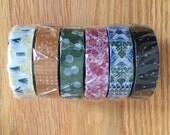 washi masking tape set by seitousha - rare limited edition