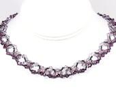 Amethyst crystal choker necklace, amethyst choker, purple choker, purple necklace, sterling silver chain, sterling silver clasp
