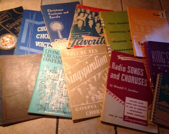 Collection of 13 Gospel Song and Chorus Books