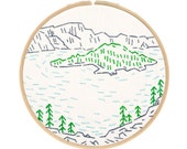 Crater Lake Embroidery Kit