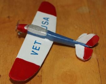 Vintage Veteran Outsider Art Airplane