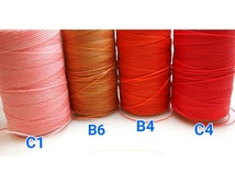 new / WAX-C1.B6.B4.C4 / 15meter *16.4yd *49feets - 1mm Waxed Coated Flat Polyester Strings / Waxed Cords / Waxed Threads.